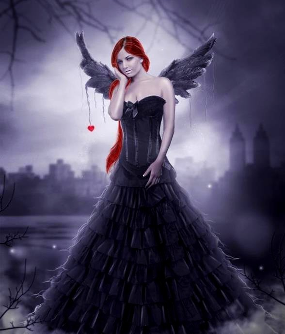 "˜*•.  ♥ ˜*•. ""Black angel""  ˜*•. ♥  ˜*•."